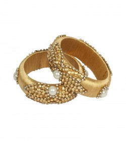 Golden Thread Bangles for Women - 2Pcs