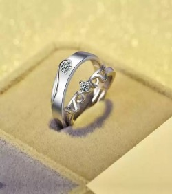 Exclusive Silver Plated China couple Ring(2pcs)-1853