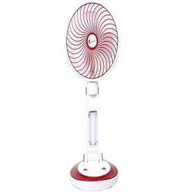 6610 - Supermoon Rechargeable Folding Table Fan with Light