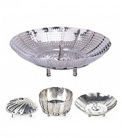 Foldable Fruit Basket - Silver