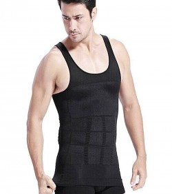 Slim and Lift Slimming Vest For Men - Black