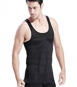 Slim and Lift Slimming Vest For Men - Black