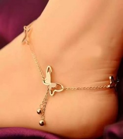 Butterfly Anklet Rose Gold