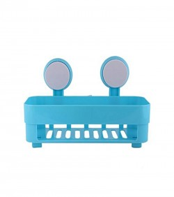 Plastic Bathroom Shelves - Deep Sky Blue