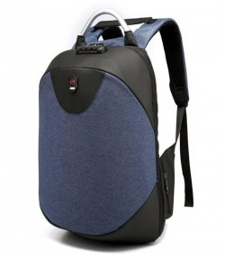 Water Resistant Anti Theft Hidden Zipper Backpack - Black