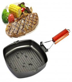 Non-Stick Ceramic Titanium Grill Pan - Black