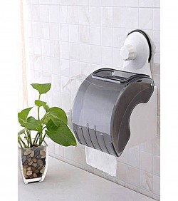 Waterproof Toilet Paper Holder - Black and White