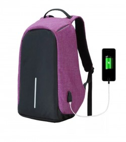 Anti Thief Backpack Unisex- pink and black