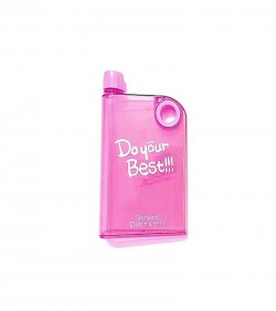 Notebook Water Bottle 380ml pink