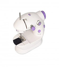 8 in 1 Electronic Sewing Machine - White and Purple