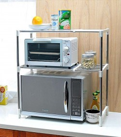 High Quality Microwave Oven Storage Racks - Silver