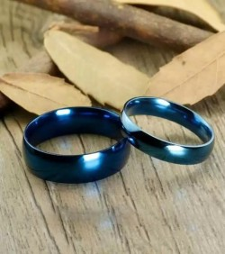 Blue Jewelry Couple Finger Ring