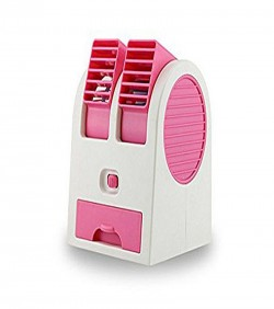 Portable Mini USB Double Outlet Air Conditioner - Pink