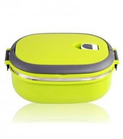 Single Layer Stainless Steel Lunch Box with Handle