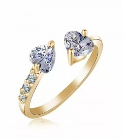 Female Heart Ring Fashion Style silver Gold-1075