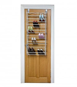 12 Layers Over-the-Door Shoe Rack - White