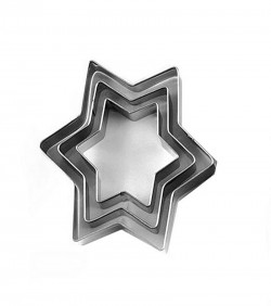 3 Pcs Cookie Cutter - Silver