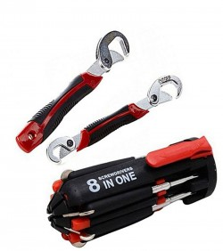 Snap Grip Tools & 8 in 1 Portable Screwdriver Combo