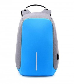 Anti Thief Backpack Unisex- sky blue