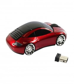 Wired Car Shape Mouse - Black