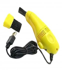 Mini USB Vacuum cleaner - Yellow