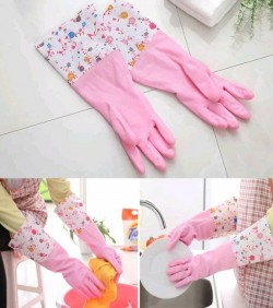Half Hand Kitchen Gloves one Pair - Multicolor