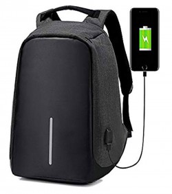 Anti Thief Backpack Unisex- black