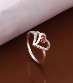 Red Heart Finger Ring Code - 1054