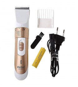 Kemei KM-9020 Exclusive Rechargeable Hair Clipper/Trimmer - White