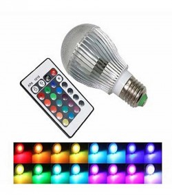 remote control 16 color changeing led light (5W)
