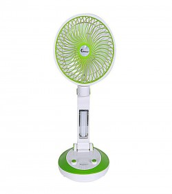Supermoon Rechargeable Folding Table Fan with Light SM 6610 - Green and White