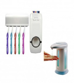 Combo of Toothpaste Dispenser + Soap Dispenser
