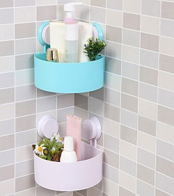 Triangle Shelves For Bathroom (1 pic)