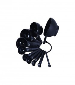 Homebiz Bd Plastic Heavy Duty Measuring Spoon - Black