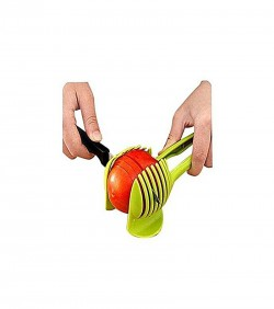 First Lady Tomato Cutter Clip - Lime Green