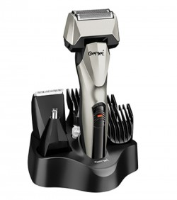 Kemei 6 in 1 Rechargeable Shaver,Hair,Ear & Nose Trimmer - GM576