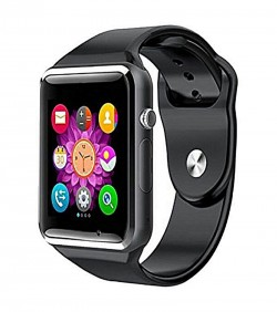 Bluetooth Smart Watch Phone with Pedometer Camera Single SIM - Black