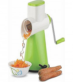 Multifunctional Fruit and Vegetable Slicer - White with Green
