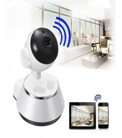 Night Vision Wifi Camera - White