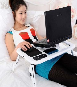 Multi-functional Laptop Table With Cooling Fan - 2572