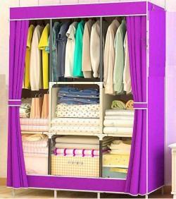Wardrobe Storage Organizer for Clothes - Big Size 3 part - purple