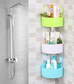 Plastic Corner Triangle Shelf(3pcs)- 2590