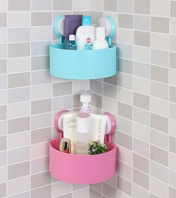Plastic Corner Triangle Shelf(2pcs)- 2603