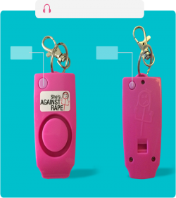 Anti Rape Whistle Against Rape Alarm - 3540