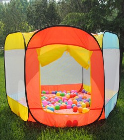 Product Name: Play Tent (With 100 Balls) (Red & Yellow) - 4514