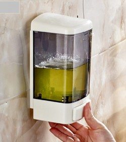 Large Plastic Touch Soap Dispenser Wall Mount - 2629