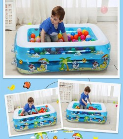 Baby Swimming Pool with Air Pump. With Ball 50 Pcs- 4510