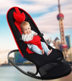 Multi functional Premium Baby Rocking Chair with Adjustable Angle and Safety Belt - 4502