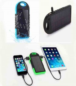 Solar system waterproof power Bank with torch Light