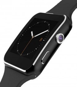 Curved Display Smart Watch X6 - Black